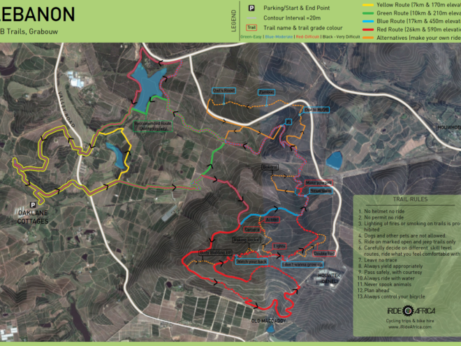 Lebanon MTB trail map