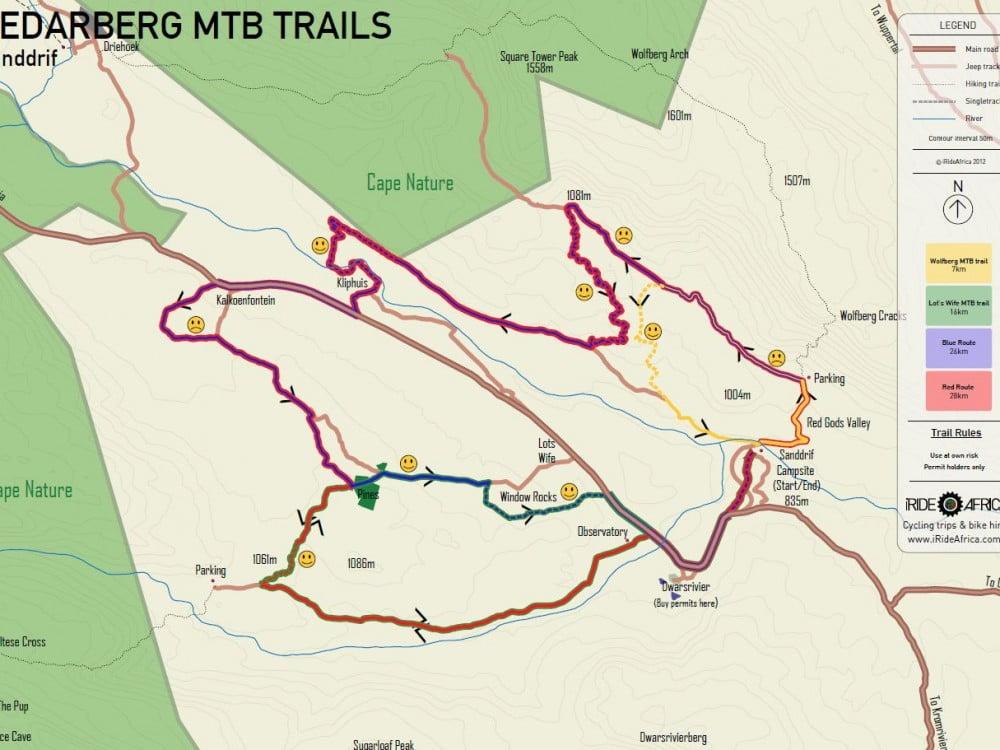 Cederberg MTB map