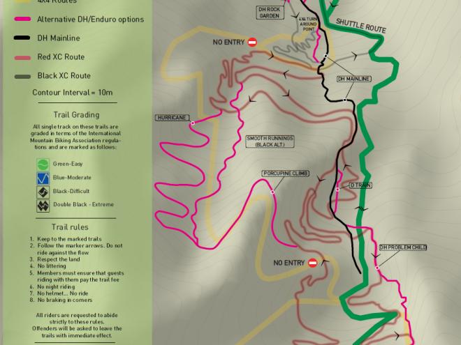 Helderberg MTB trail map DH