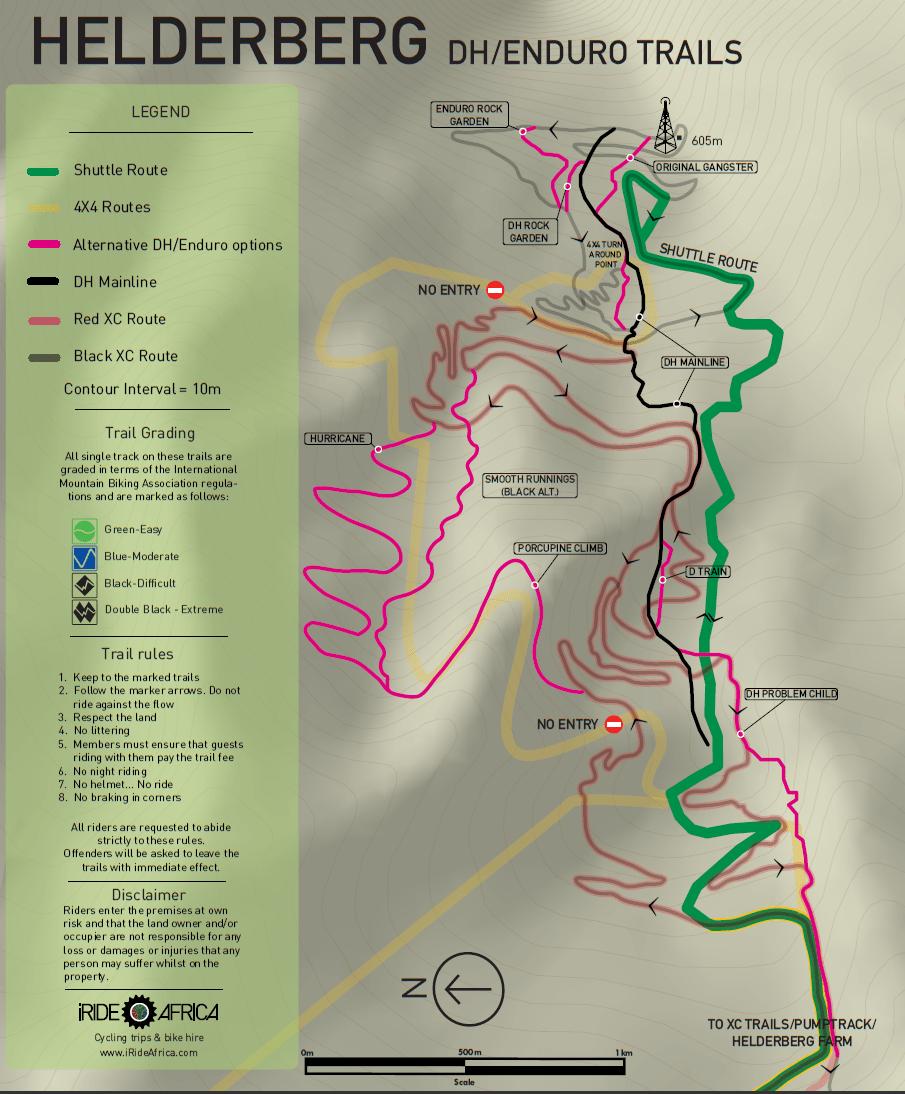 Helderberg MTB trails DHiRide Africa