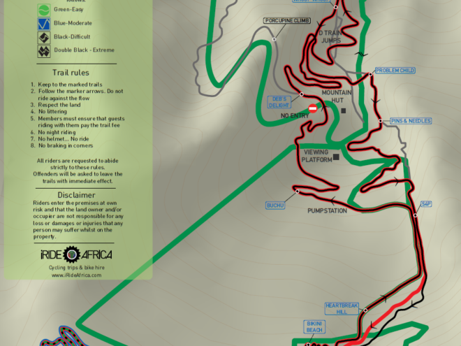 Helderberg MTB trail map XC