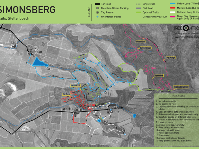 Simonsberg MTB Trail map