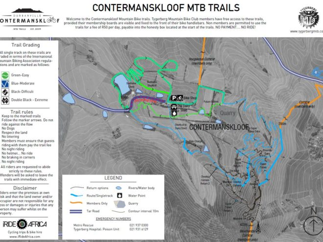 Contermanskloof MTB map