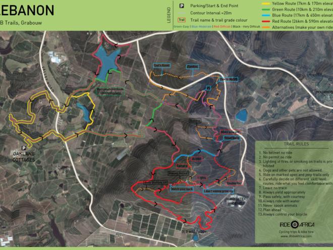 Lebanon MTB trail map