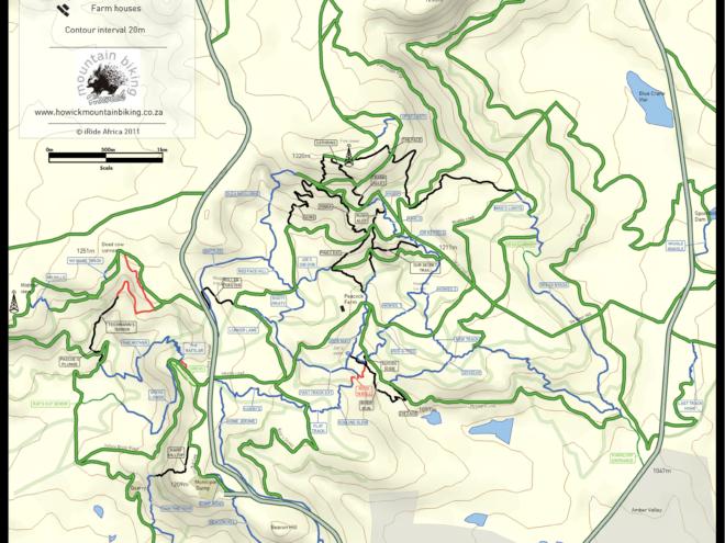 Howick MTB Map
