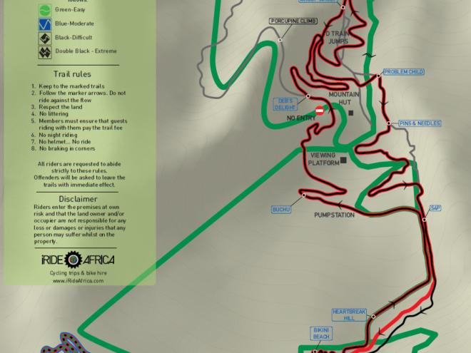 Helderberg MTB trail map XC