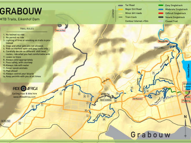 Grabouw MTB map